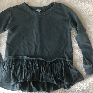 Anthropologie flounce bottom tunic sweatshirt